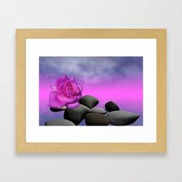 just a purple rose Framed Art Print