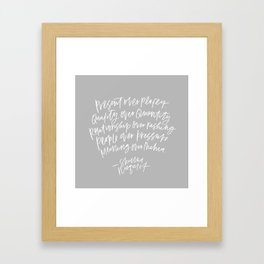 Present Over Perfect Framed Art Print