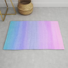Colorful Watercolor Ombre Pattern Rug