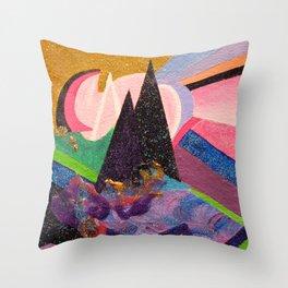 Glitter Mountains Throw Pillow