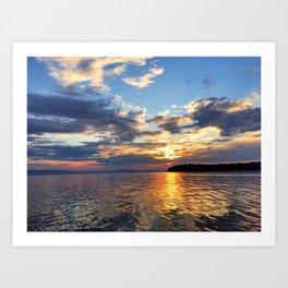 Sunset Over Lake Champlain Art Print