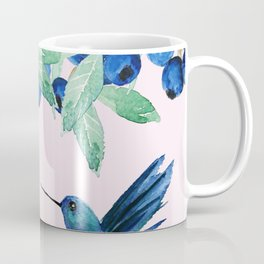 blueberry and humming bird Coffee Mug
