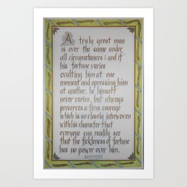Greatness (Machiavelli) Art Print