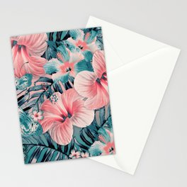 Vintage Jade Coral Aloha Stationery Cards