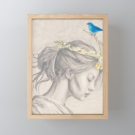Glimmering gold crown Framed Mini Art Print