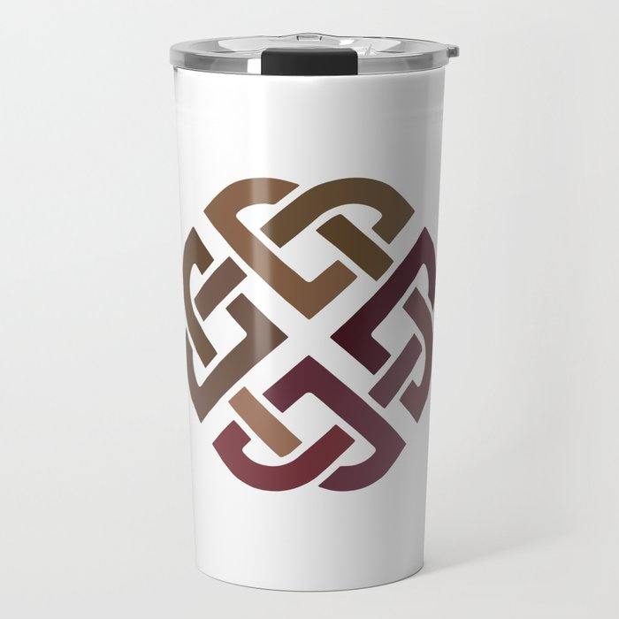 St. Patrick's Day Celtic Red Knot #2 Travel Mug