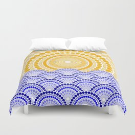 LIGHT OF DAWN (abstract tropical) Duvet Cover