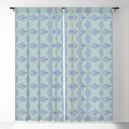 Crossing the lines - the blue and green optical illusion Blackout Curtain