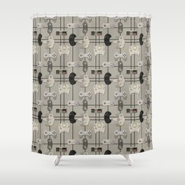 Paper Cut-Out Video Game Controllers Shower Curtain