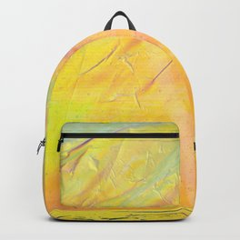 Abstract sunset - yellow, orange and blue - Backpack