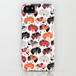 Trendy Bohemian Bold Red Retro Flower Floral iPhone Case