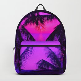 Pink Palm Trees by the Indian Ocean Backpack