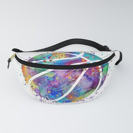 Basketball Watercolor Art Print Sports Poster Home Decor Kids Room Sports Painting Nursery Decor Fanny Pack