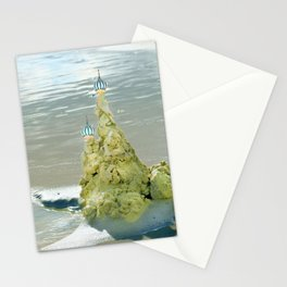 castles in the sand Stationery Cards
