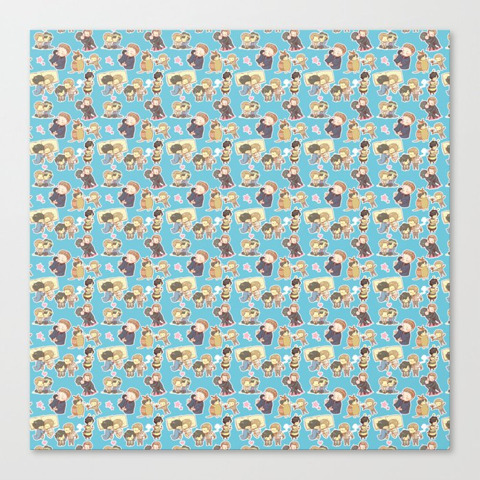 Chibilock Pattern Canvas Print