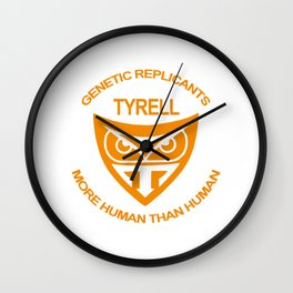 Tyrel Corporation Blade runner Wall Clock