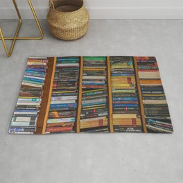 Bookshelf Books Library Bookworm Reading Pattern Rug