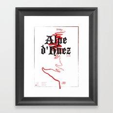 Famous Climbs: Alpe d'Huez 2, Old World Framed Art Print
