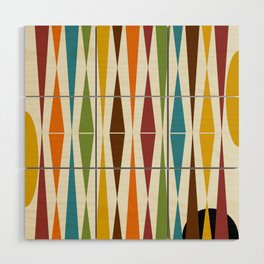 Mid-Century Modern Art 1.4 Wood Wall Art