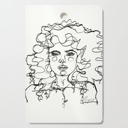 Curly Lines Girl Cutting Board