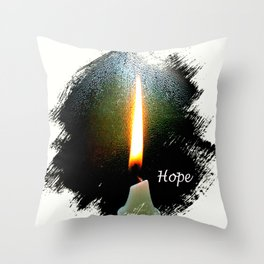Candle of Hope Throw Pillow