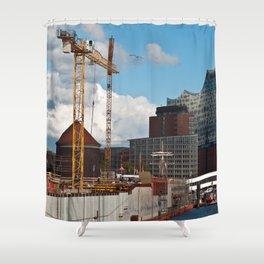 HAMBURG HARBOR SOUND Shower Curtain