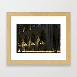 Candlelit Cathedral, Notre-Dame, Paris Framed Art Print