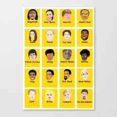 Community Guess Who Faces Canvas Print