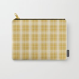 Fall 2016 Designer Color Mustard Yellow Tartan Plaid Check Carry-All Pouch