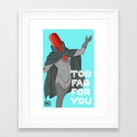 red hood Framed Art Prints featuring Red Hood by Delcee