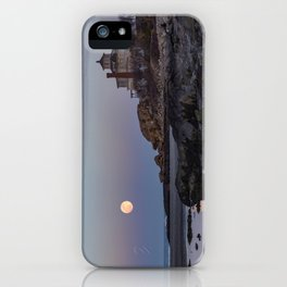 Full moon at Good Harbor Beach iPhone Case