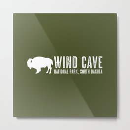 Bison: Wind Cave, South Dakota Metal Print