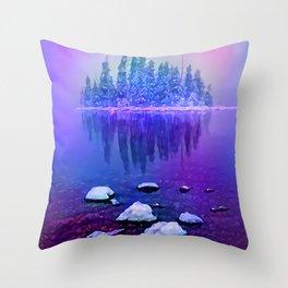 Winter Island Throw Pillow