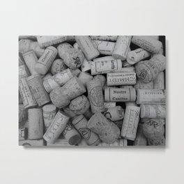 Corks B/W 4 Metal Print