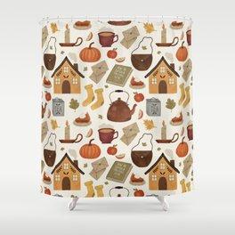 Autumn Cottage Days Shower Curtain