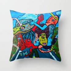 People and Generations  Throw Pillow