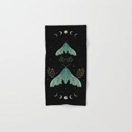 Luna and Moth - Midnight Black Hand & Bath Towel