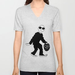 Bigfoot Hoax (I knew it wasn't a man in a costume!) Unisex V-Neck