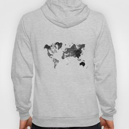 World map - desaturated Hoody