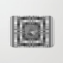 Abstract pattern . Patchwork striped . Bath Mat
