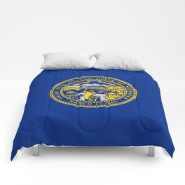 flag Nebraska,america,usa,cornhusker,nebraskan, great plains,midwest,Omaha,Lincoln,Kearney Comforters