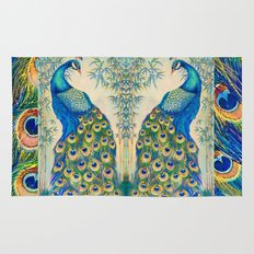 Blue Peacocks Rug
