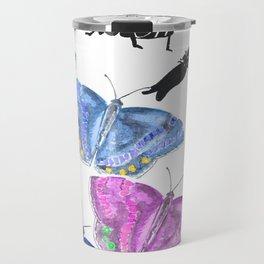 Beetles, bugs and butterflies Travel Mug