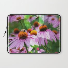 """""""Life"""" - Ankh with Purple Cone Flowers Laptop Sleeve"""