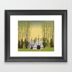 Tipis Framed Art Print