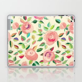 Pastel Roses in Blush Pink and Cream  Laptop & iPad Skin