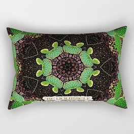 Be Yourself Quote on Cactus Rectangular Pillow