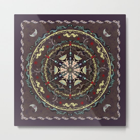 The Source Mandala Metal Print