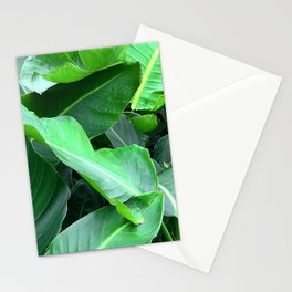 Poetic, Lyrical Palm Leaves Close-Up Art Stationery Cards