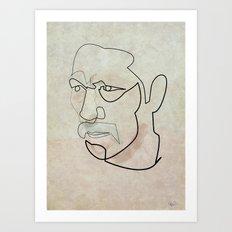 One line Danny Trejo Art Print